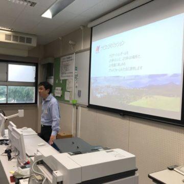 県立千葉高校にてNaviTabi体験